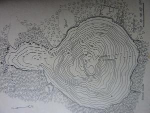 карта промера глубин оз. Глубокое