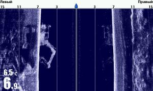 экскаватор в режиме Side Imaging